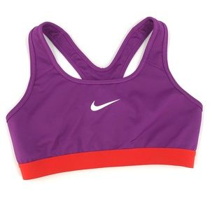 Nike dry-fit sports purple orange bra M